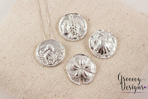 """Choice of Fine silver pendant GD204 """"Under the Sea"""""""