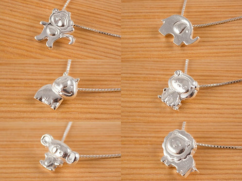 "Choice of Fine silver pendant GD214 ""Zoo Critters"""
