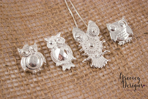 "Choice of Fine silver pendant GD211 ""Night Owls"""