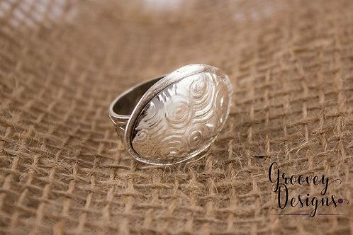 "Fine silver ring GD101 ""Lunar Eclipse"""