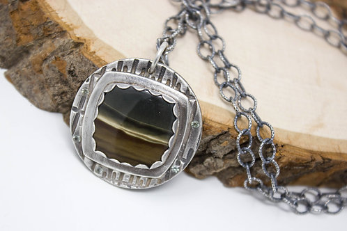 GD303- Landscape Jasper Fine Silver Necklace