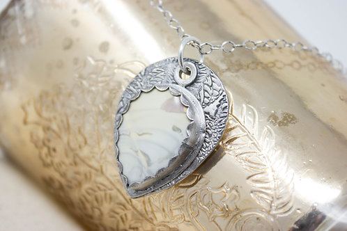 GD312- Willow Creek Jasper Fine Silver Necklace