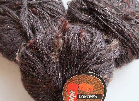 Paket 4x Contessa (Dunkles Violett mit pinken Fäden)