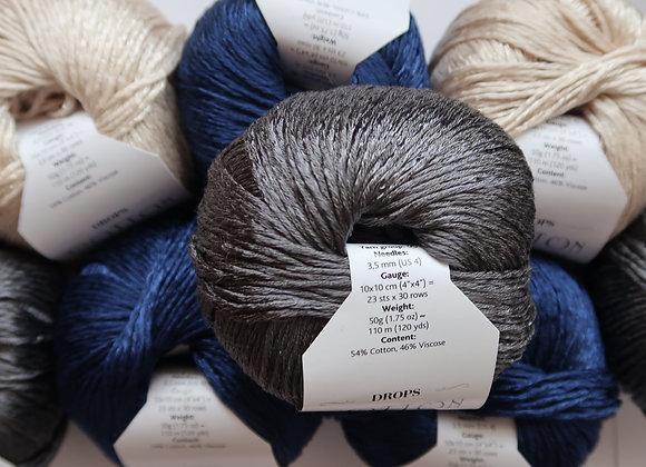 Mischpaket 6x Cotton Viscose (Blau-Grau-Weiss)