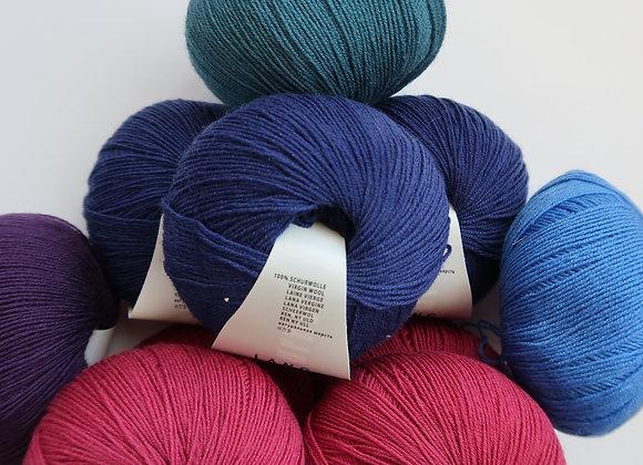Mischpaket 10x Merino 400 Lace  (Pink-Violett-Blau)