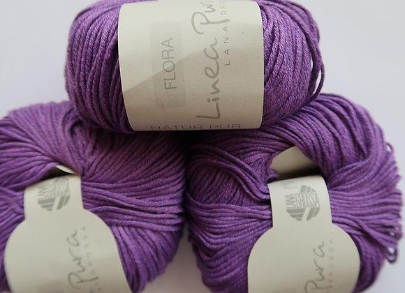 Paket 11x Flora - Linea Pura von Lana Grossa (Violett)