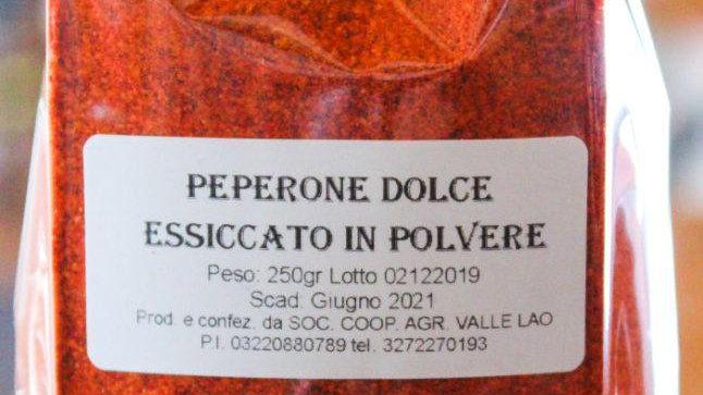 Peperone dolce Essiccato in Polvere