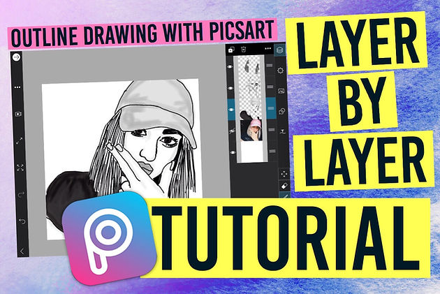 Tumblr Outline Drawing with PicsArt