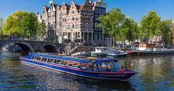 Amsterdam'da Kanal Turu