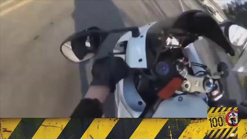 Motosiklet Kazası - Isınmadan Gazlama
