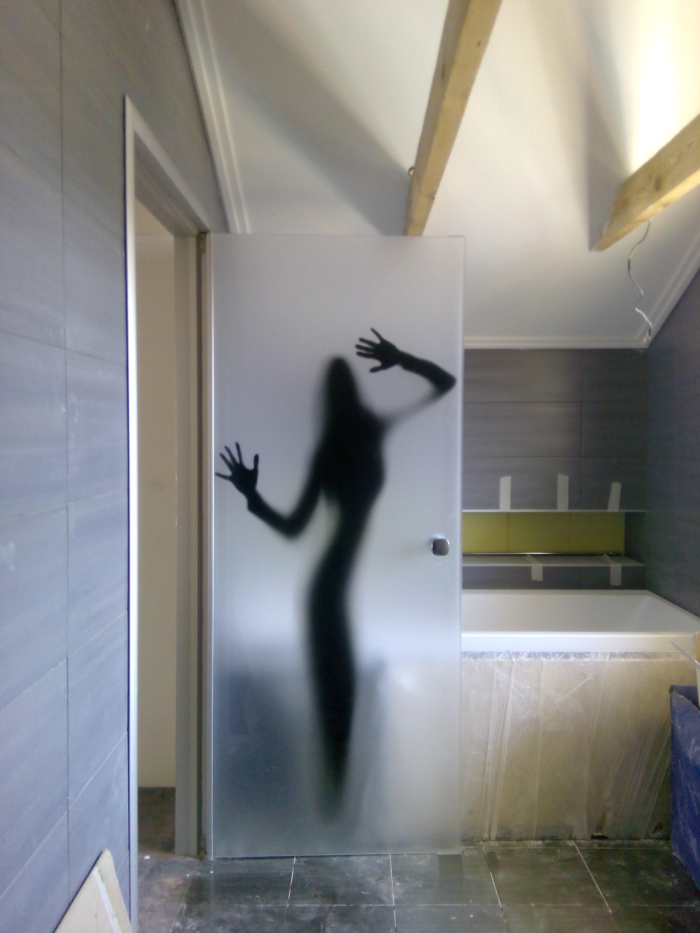 Стеклянная дверь в душ