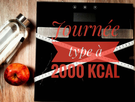 Comment composer facilement ses menus pour une journée à 2000 Kcal?