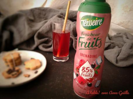 TEST: Fraîcheur de fruits, le p'tit nouveau de chez teisseire, moins sucré.