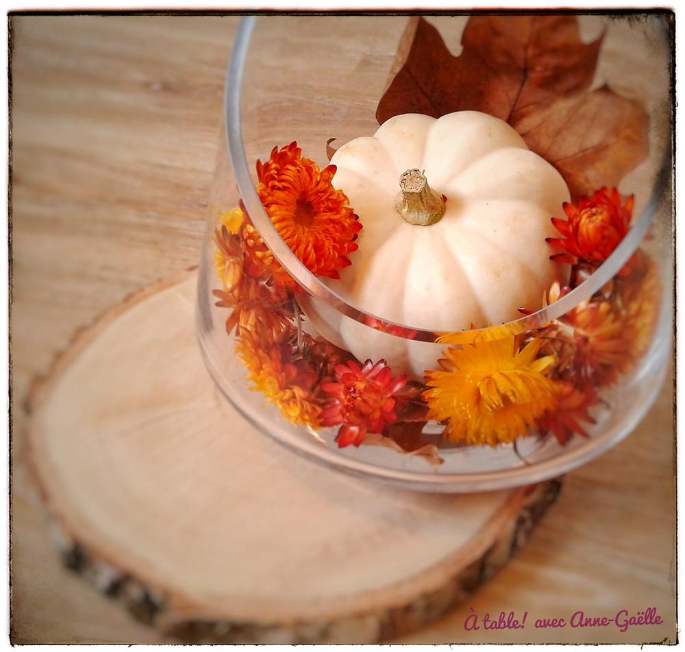 Potiron et fleurs d'automne.