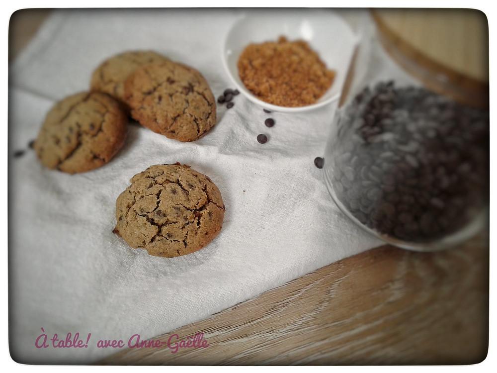 Cookies au sarrasin et aux pépites de chocolat.