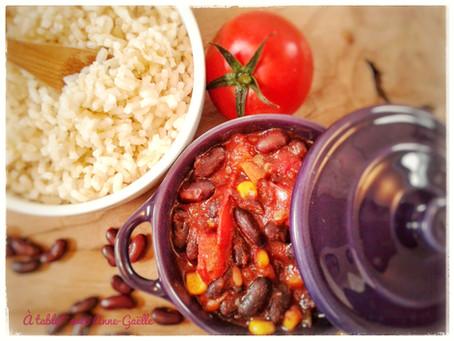 Chili sin carne (recette végétarienne)