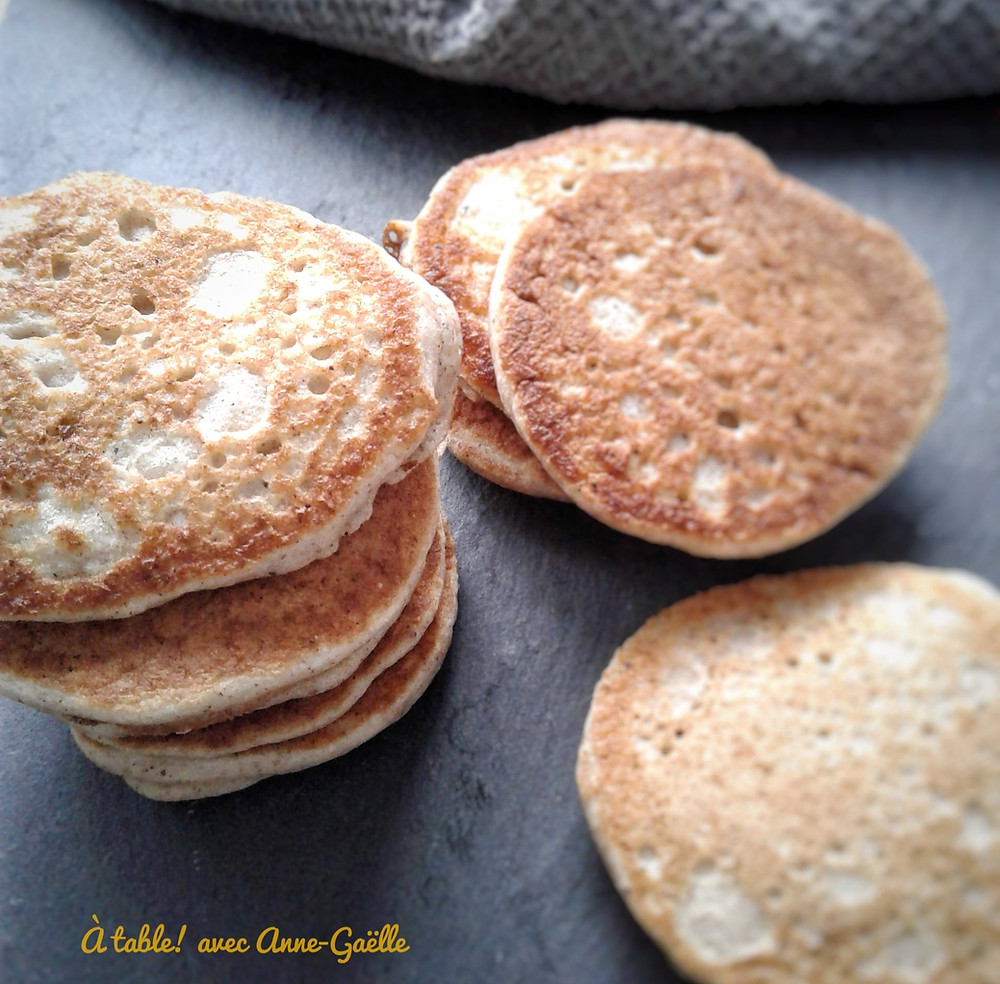 Blinis sans gluten à la farine de sarrasin.
