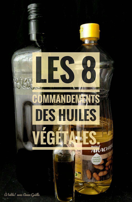 Bouteilles d'huiles végétales.