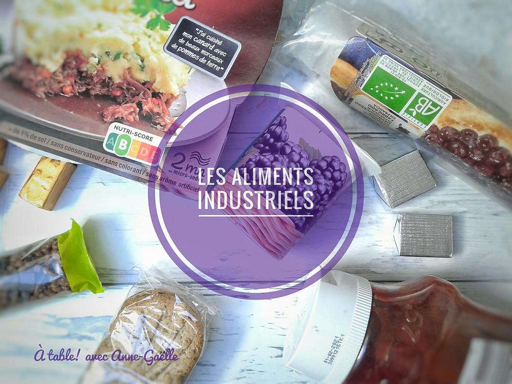 Divers aliments industriels