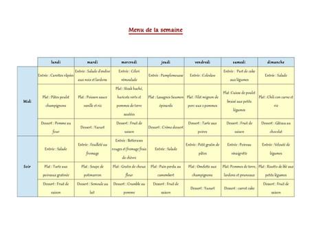 1 semaine de menus d'automne 1