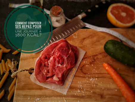 Comment composer ses repas pour une journée à 1800 kcal?