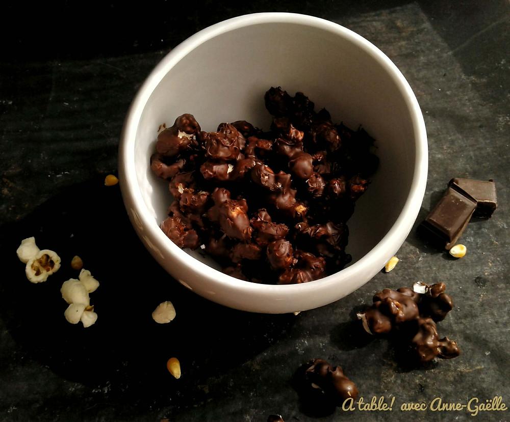 Pop corn enrobés de chocolat