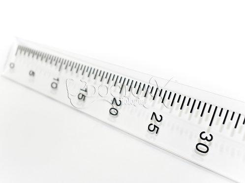 Régua Escanográfica com Escala de 30cm