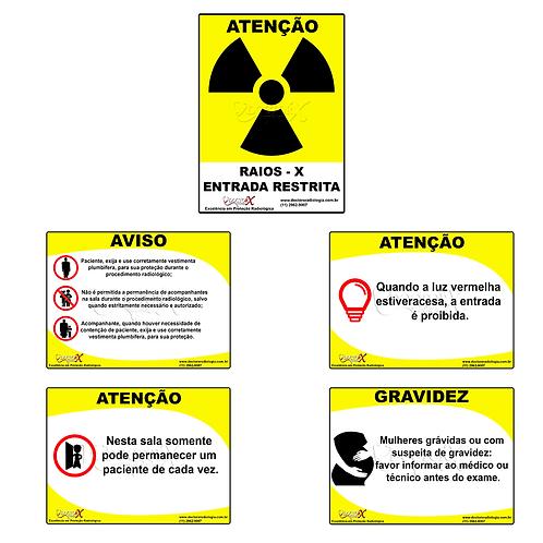 Sinalização Radiológica (contendo 5 Placas De Sinalização)