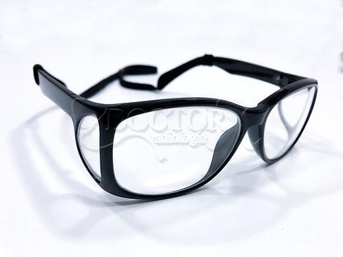 Óculos Plumbífero com proteção frontal 0.75mm Pb e lateral 0,5mm Pb - Mod. KON02