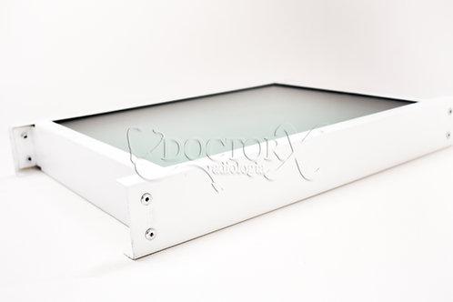 Visor Plumbífero 60 mm de espessura equivalente a 1,5mm Pb - Medida: 0,30x0,40 m