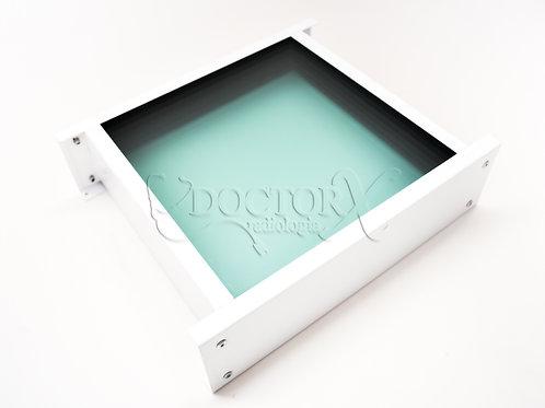 Visor Plumbífero 100 mm de espessura equivalente a 2,0mm Pb - Medida 0,30x0,40m