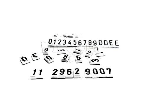 Números de Chumbo de 10mm com base em PVC