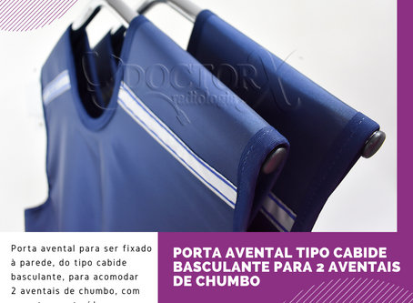 Porta Avental tipo Cabide Basculante para 2 Aventais de Chumbo ☢️