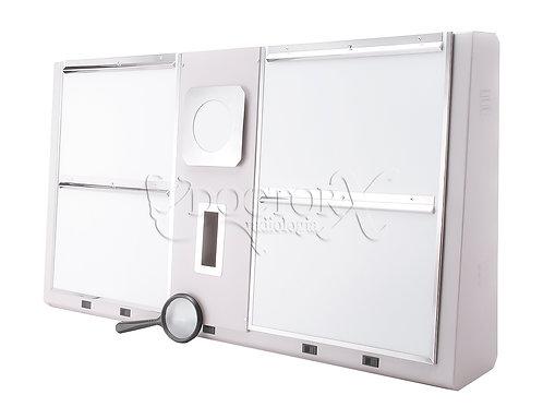 Negatoscópio Mamográfico de 4 Corpos para 8 Filmes de 20x25cm