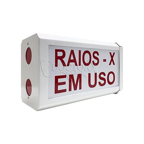 Sinaleiro para Porta com descrição por escritoRAIOS X EM USO - Branco