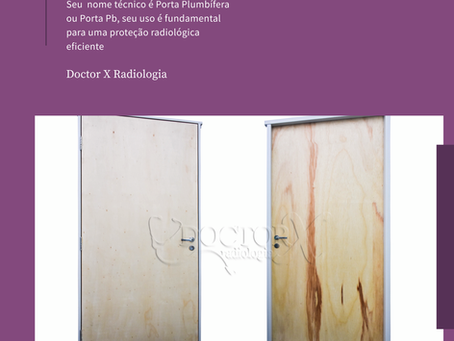 ☢️ PORTA COM CHUMBO P/ SALA DE RAIO-X