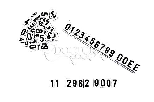 Números de Chumbo de 6mm com base em PVC