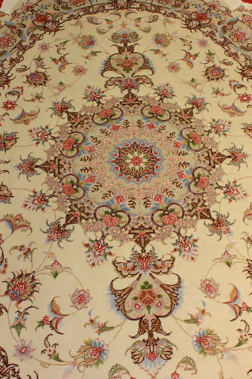 Tabriz 60Raj UVAL med silke 213x140
