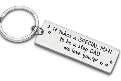Special Stepdad Key Ring