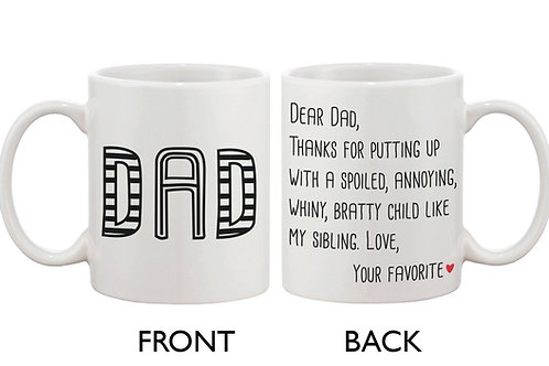 Father's Day Mug for Dad - From Your Favorite