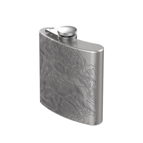 Favorite Trails Stainless Steel Engraved Flask