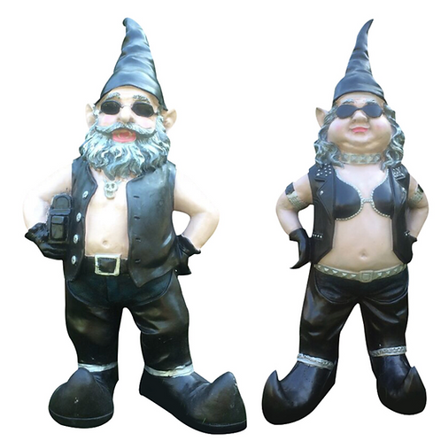 Biker Gnome Dude and Babe