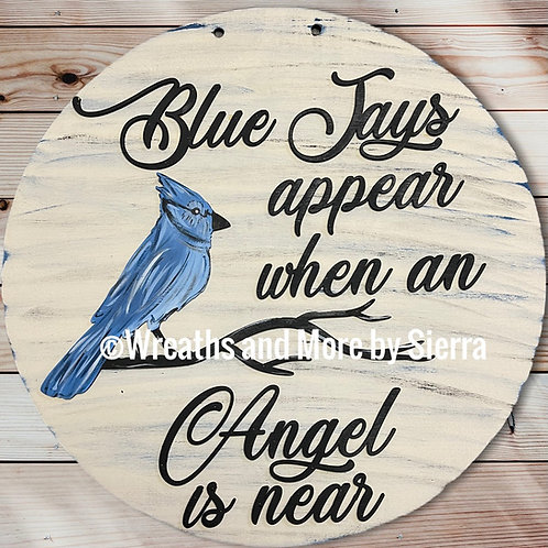 Blue Jays Appear Door Hanger