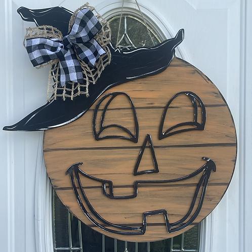Jack-o-lantern Door Hanger