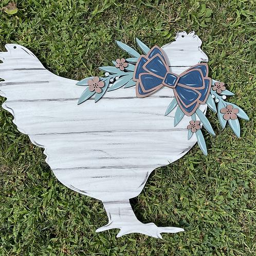 Chicken w/ Bow Door Hanger