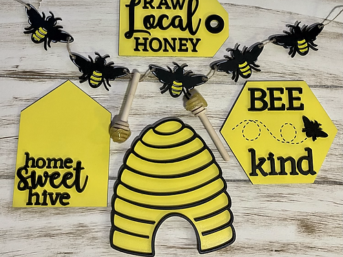 Bee Tiered Tray Set