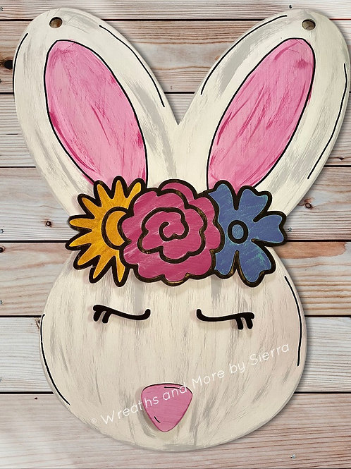 Bunny with Floral Crown