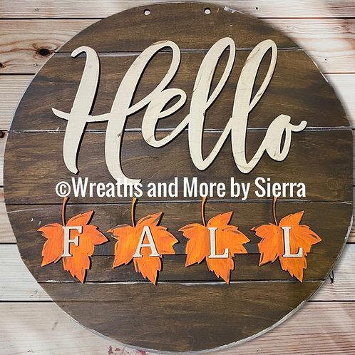 Interchangeable Hello Season Sign