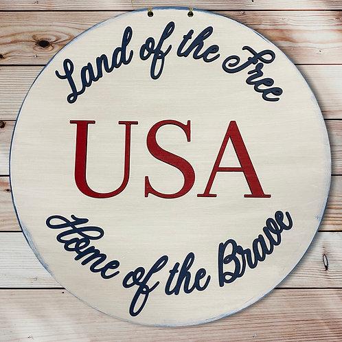 Land of the Free Door Hanger
