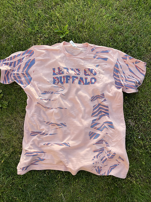 Let's Go Buffalo Shirt-Pink-Not Bleached